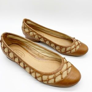 TALBOTS BROWN WEAVE BALLET FLATS SIZE 6.5